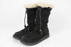 5ba72461d4f Details about UGG AUSTRALIA Suburb Crochet Tall BOOT Black SN 5124 UK  6.5/US 8/EU 39 105 G