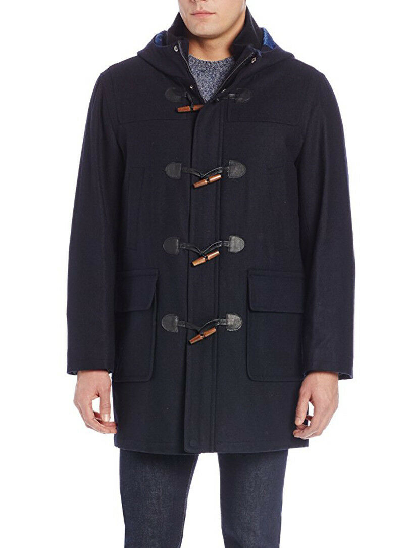 New  Herren Tommy Hilfiger Barry 36 Inch Single Breasted Hooded Toggle Coat 42 L