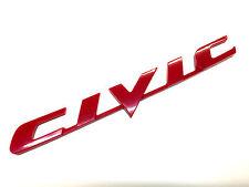 """New 06-11 Honda Civic Rear Red """"CIVIC"""" Car Emblem 3m Tape USA EX LX SI"""