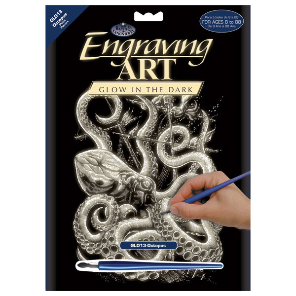 various Royal /& Langnickel Glow in the Dark Engraving Art // Scraperfoil