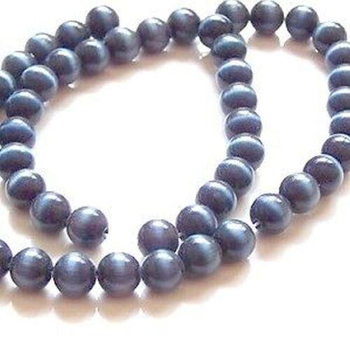 50 pieces 6mm Cat/'s Eye Beads A3817 k2-accessories Dark Grey