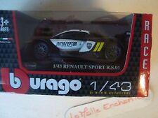 MINIATURE RENAULT RS 01 INTERCEPTOR  BURAGO RACE NEUF BOITE 1/43°