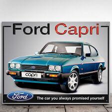Ford Capri Metal Wall Sign Garage Mens Vintage Art Car Vintage Ad 30x41cm 50109