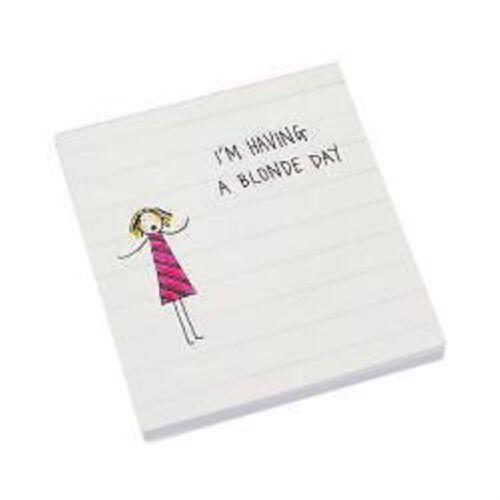 Jakki Doodles White Pocket Sticky Pads All 4 Different Designs Baby Blonde Day
