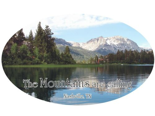 The Mountains Are Calling Mountain Camper RV Vinyl Sticker  Color Camper Graphic