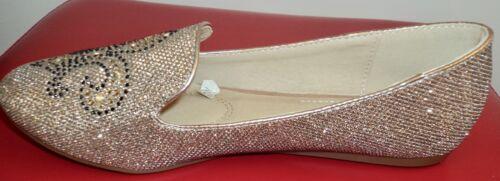 Damen Schuhe Glitzer Ballerinas Slipper Flats Loafers Elegant Halbschuhe Pumps