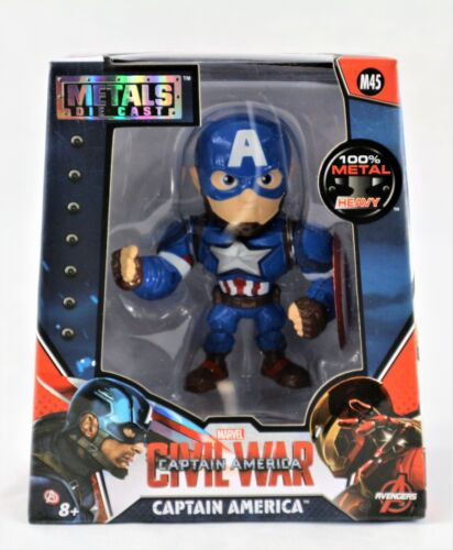 "CAPTAIN AMERICA-MARVEL COMICS FIGURINE4/"" Tall Die-cast Metal Action Fi"