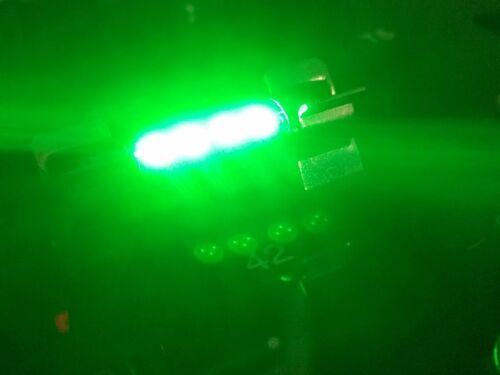 2x C10W 264 42MM 4 SMD Led Interior bulbs Light Green