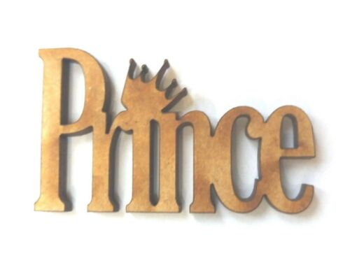 10x WOODEN PRINCE SHAPES words  gift tag craft card scrapbook embellishment make
