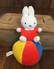 "Miffy 10"" Dick Bruna Miffy plush Anime Ball Rattle Noise 2005 Bunny Rabbit"