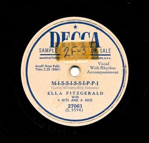 ELLA-FITZGERALD-on-1950-Decca-27061-M-I-S-S-I-S-S-I-P-P-I-I-Don-t-Want-the