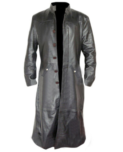 Goth Helsing vera Gothic nera in Trench Matrix Steampunk uomo pelle da Van qAFPY