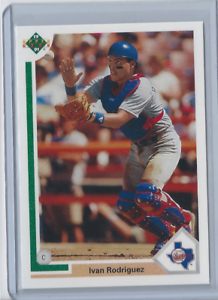 1991-Upper-Deck-Final-Edition-55F-Ivan-Rodriguez-RC-HOF-Rangers-Rookie-Card