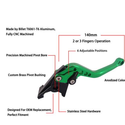 NiceBillet Short Long Adjustable Brake Clutch Levers for Yamaha TDM900 ABS MT-03