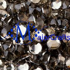 3000pcs Grey Black Diamond 2mm ss6 Flat Back Resin Rhinestones Diamante Gems C17