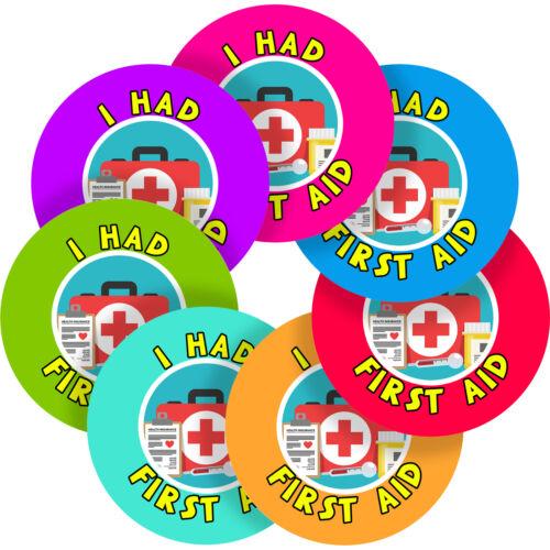 First Aid Paramedic Sticker Labels Children Teacher Praise Parent School