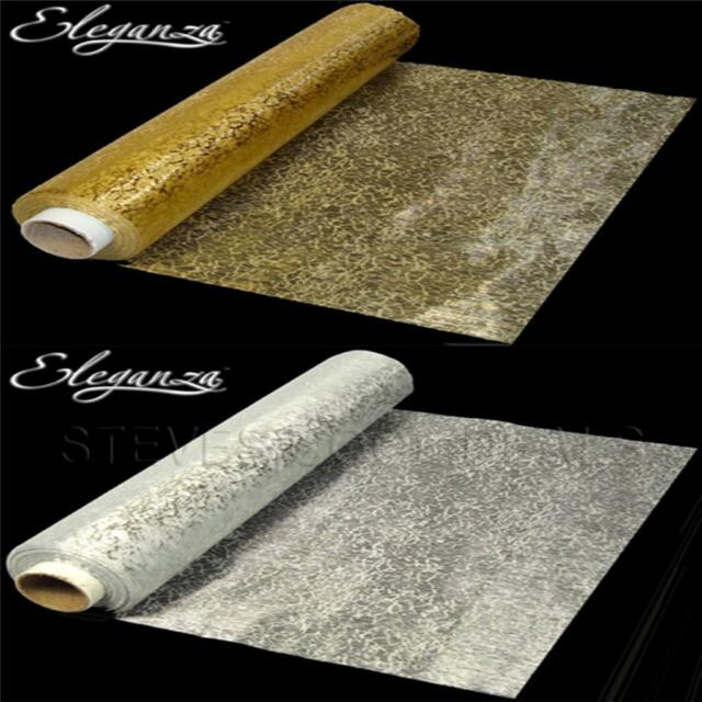 GOLD SILVER Bullion Organza Luxury Fabric WEDDING Swags Sheer Table Runners Bows