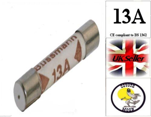 Interno domestico Spina FUSIBILE CARTUCCIA BS1362 13 A UK Venditore