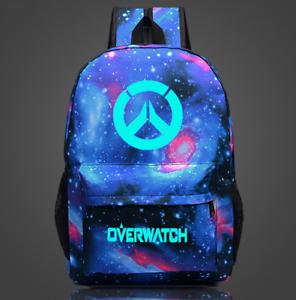 NEW Overwatch Backpack Luminous School bag Casual Shoulders Bag OW Cosplay Gift