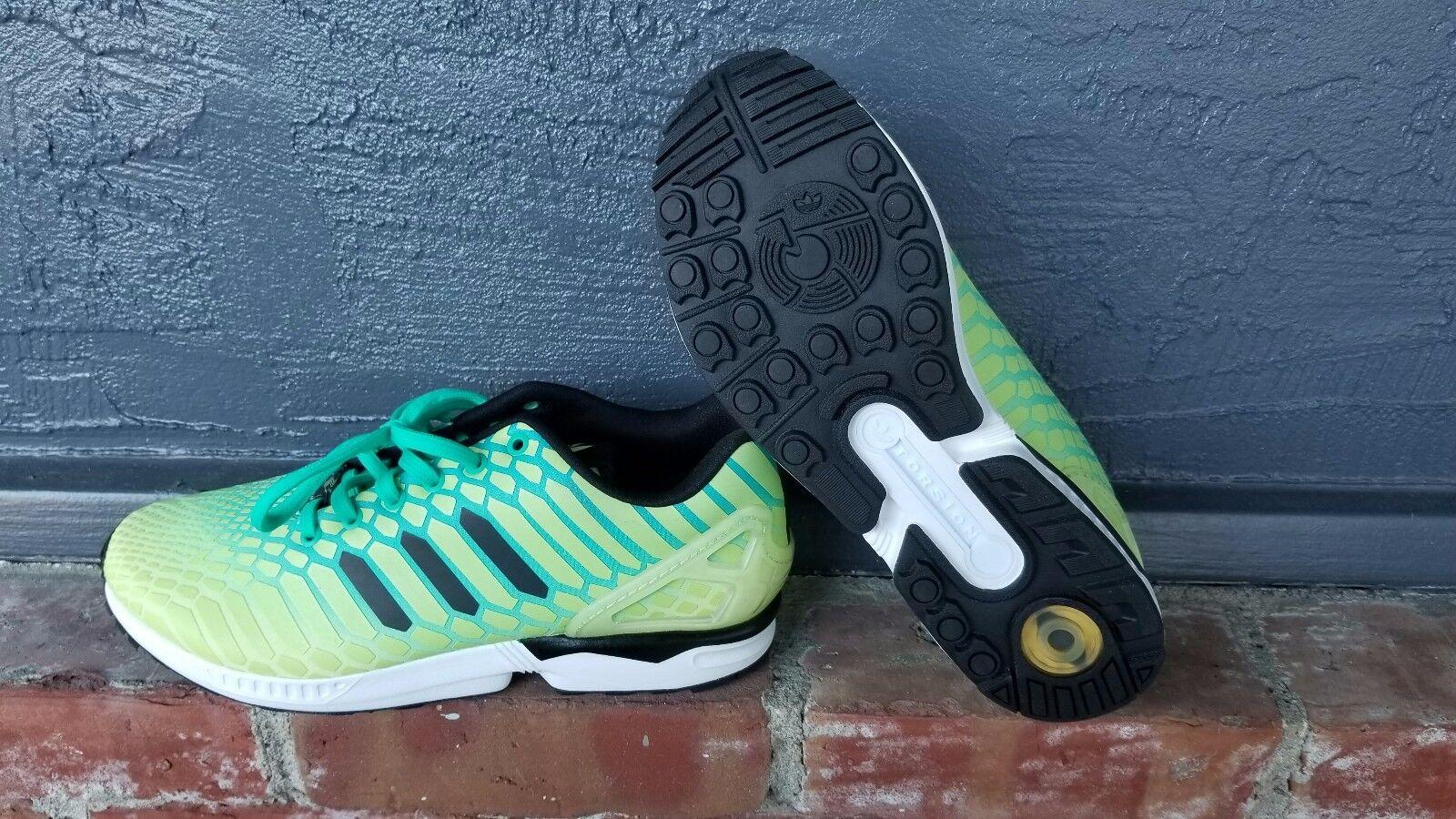Nuove adidas fosforescente originali zx flusso aq8212 giallo fosforescente adidas uomo 10,5 noi 02922d