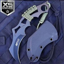 "8"" MTECH USA Tactical KARAMBIT Fixed Blade Combat Hunting Neck Knife w/ Sheath"