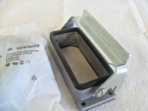 WIELAND 70.320.1628.0  Heavy Duty Connector Base Panel Mnt Open Bottom qty 2