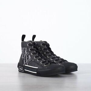DIOR-HOMME-1100-Men-039-s-Black-034-B23-034-Dior-Oblique-High-Top-Sneaker