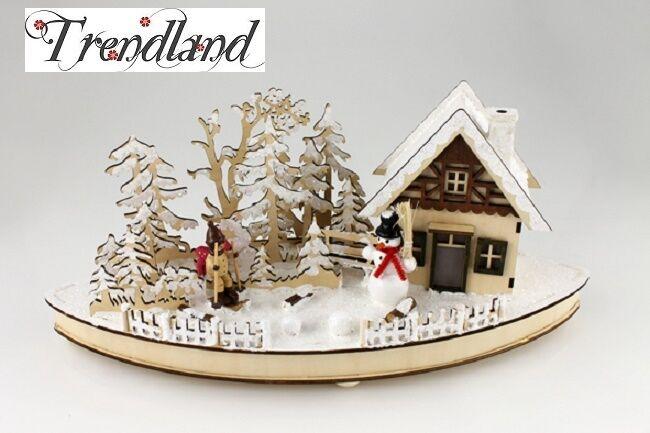 Schwibbogen Schwibbogen Schwibbogen Schneewald 480593 Deko Holz Weihnachten Fensterdeko LED Winter Wald 571ff5