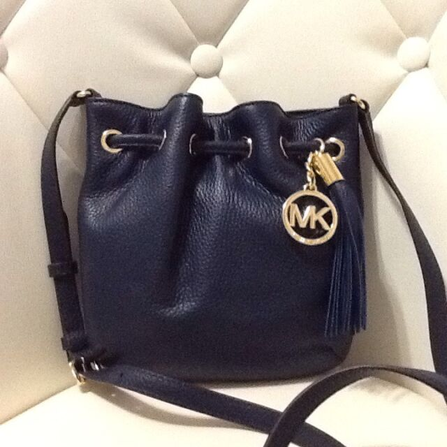 Michael Kors Ring Tote Crossbody Navy Leather Women S Shoulder Bag Nwt