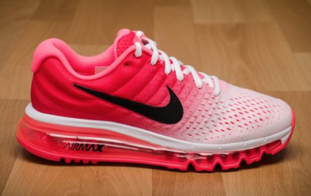Nike Air Max 2017 Womens Size 9.5 Running Shoes Pink Red White 849560 103