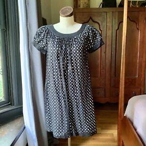 MAGGIE LONDON Laser Cut Dress Cotton Diamond Circle 8