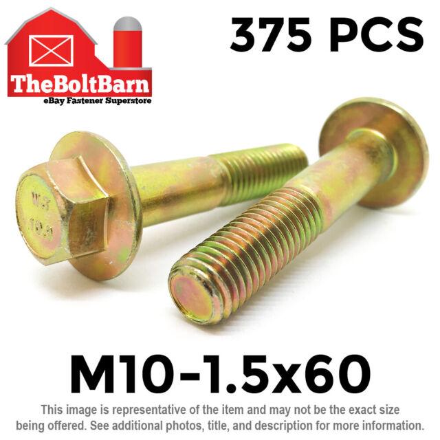 M10-1.5 x 25 Hex Flange Bolts M10x1.5x25 Grade 10.9 10mm x 25mm Screws 50