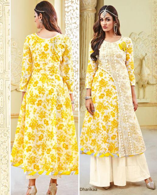 Shanaya Fresh and Fascinating Yellow Silk Kurti / Kurta / Top