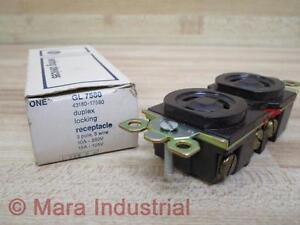 General Electric GL 7580 Duplex Locking Receptacle (Pack of 3)