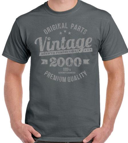 20th Anniversaire T-Shirt 2000 Qualité Premium Hommes pour Une 20 Ans Vintage An