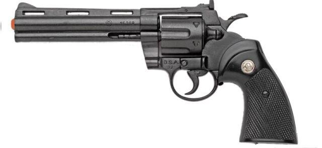 """Replica Colt Python .357 Magnum Pistol Revolver Denix Prop Gun 6/"""" Barrel black"""