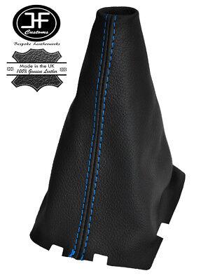 Gear stick Polaina Para Opel Vivaro 2001-12 Cuero Costura Azul