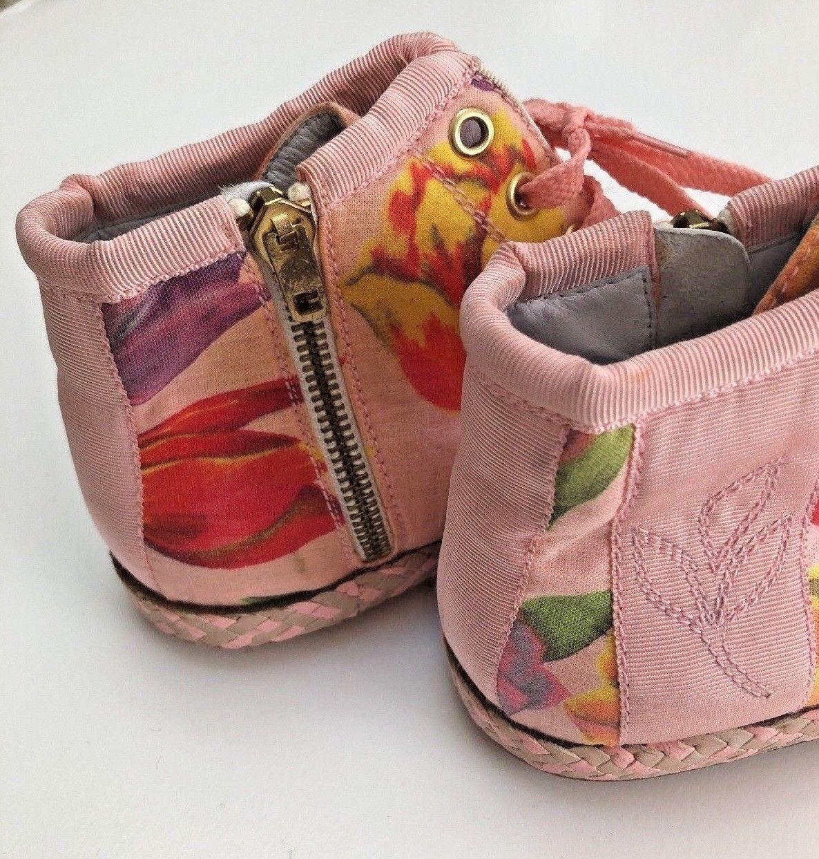 SUSAN BENNIS WARREN EDWARDS Vtg Espadrilles Sneakers 6.5 Pink Floral Italy 6.5 Sneakers $395 313b62