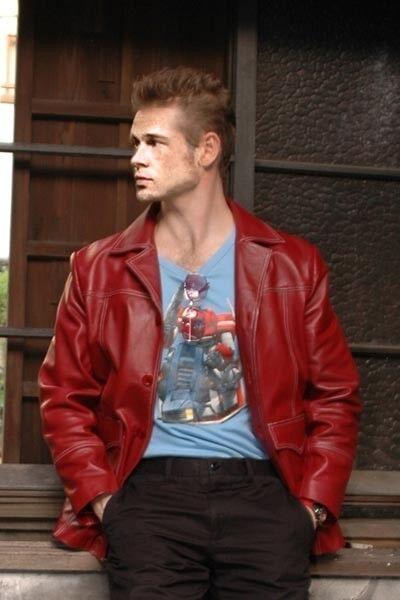 Il Prezzo Più Economico Uomo Fight Club Brad Pitt Reale & Finto Rosso Babbo Natale A Serafino