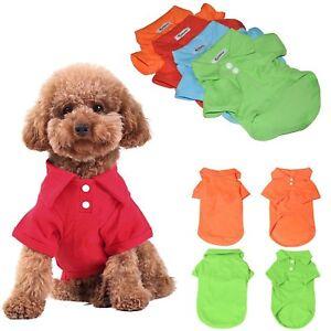 New-Summer-Casual-Pet-Dog-Puppy-Cute-POLO-T-Shirt-Cotton-Apparel-Clothes-Shirt