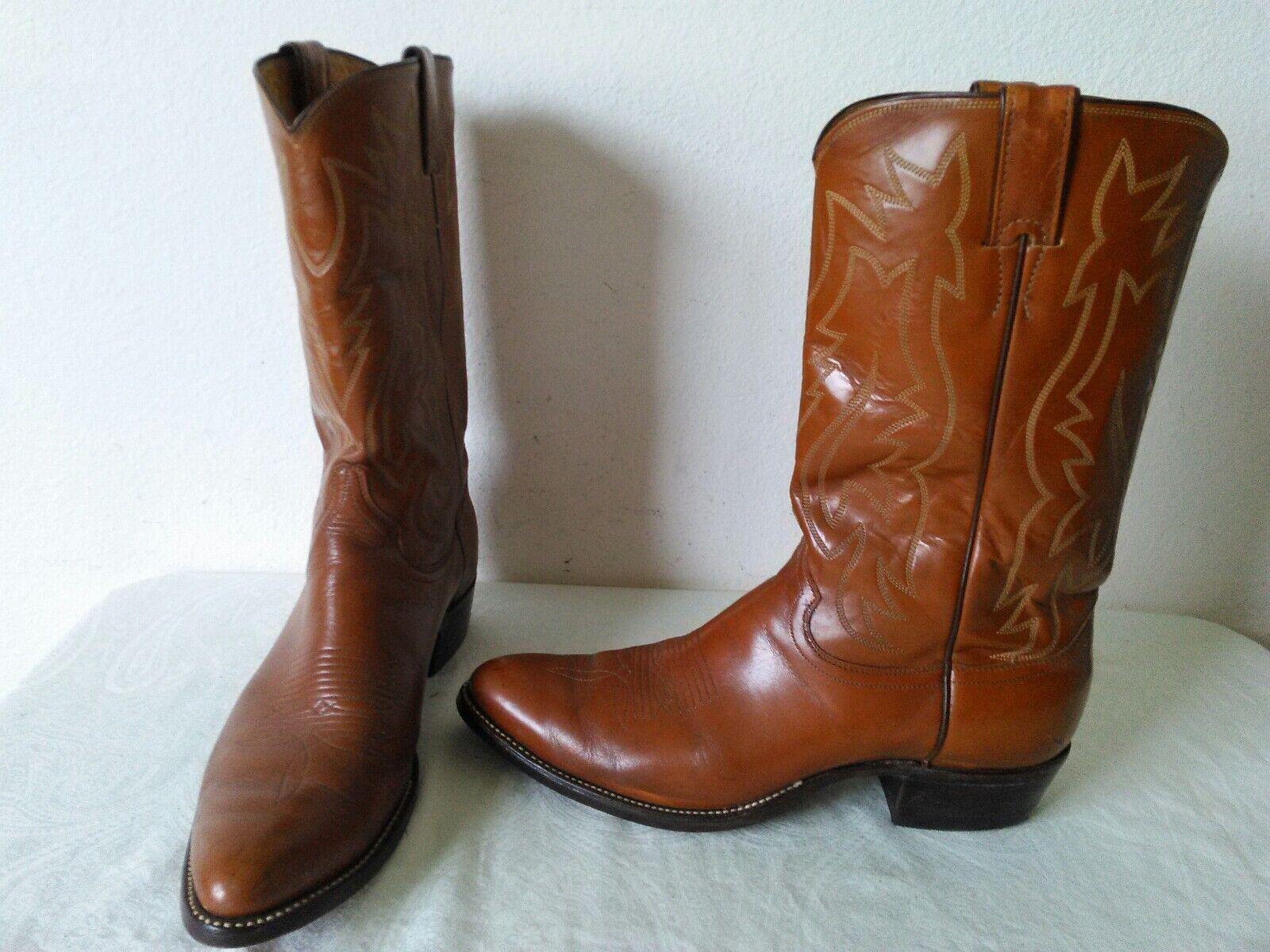 Gran JUSTIN Hombre Cuero Marrón LT botas de vaquero Western todas St 2909 Talla 9.5 D