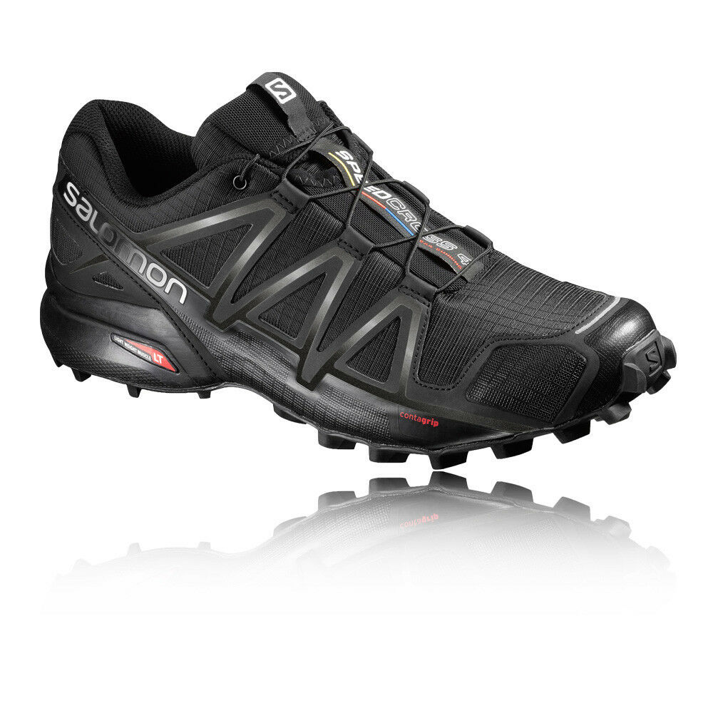 Salomon Shoes Speedcross 4 Mens Black Water Resistant Running Shoes Salomon Trainers ce7294
