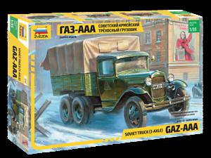 GAZ-AAA 1//35 Zvezda 3547 Soviet Army Truck 3-AXLE