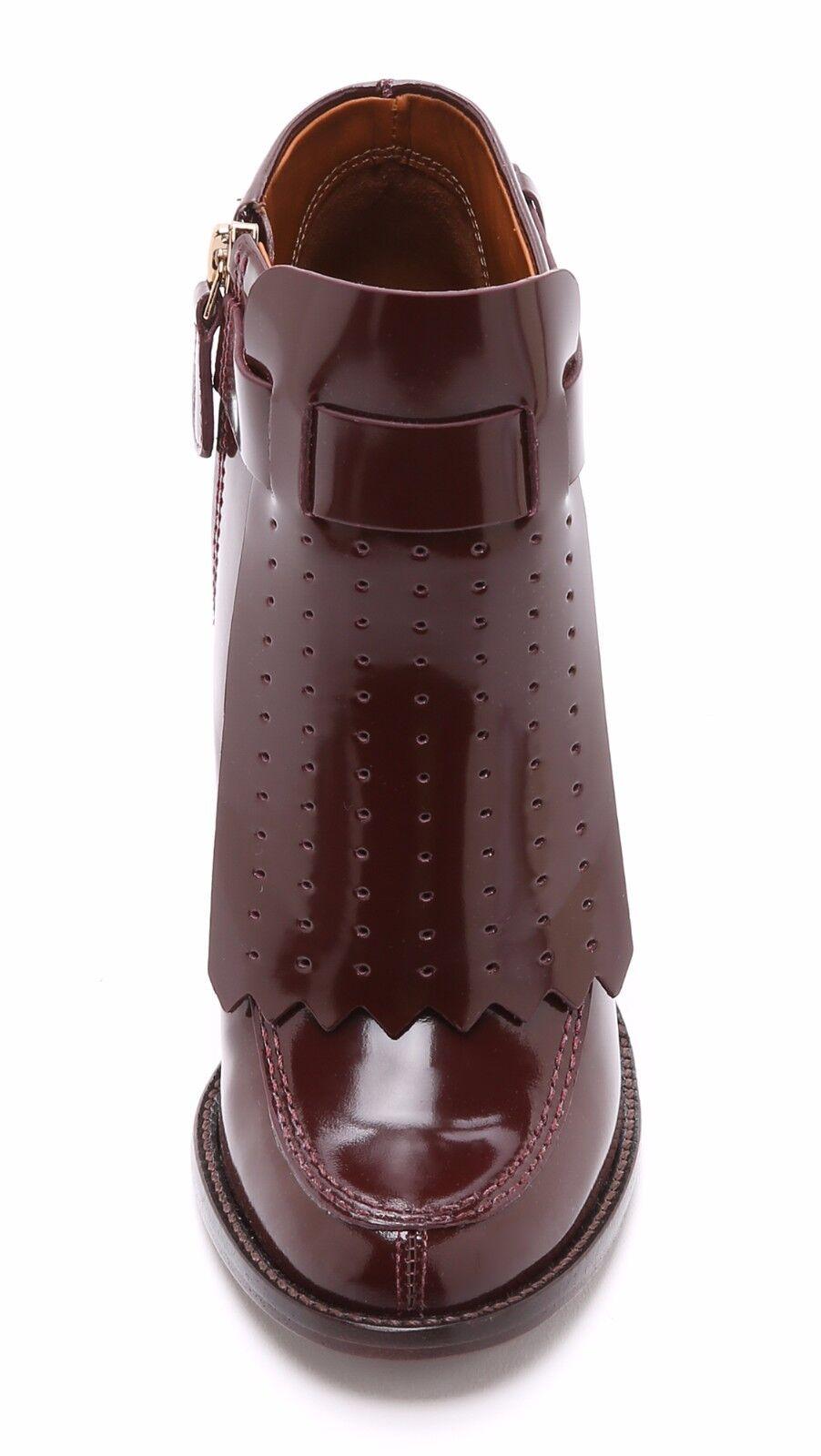 $425 Hyde New TORY BURCH Burgundy Borscht Shiny  Leder Hyde $425 Stiefel Booties schuhes 9.5 c281c6