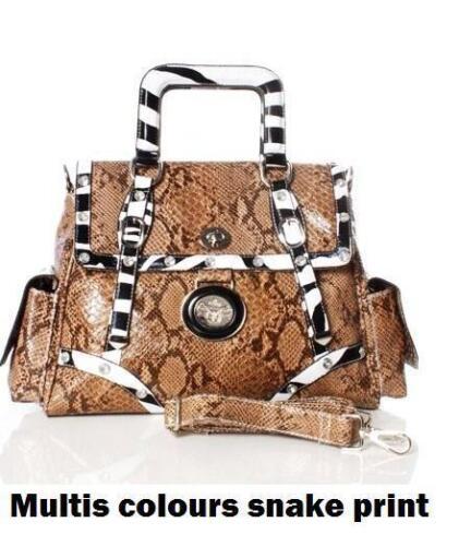 ZEBRA CROCODILE SHOULDER BAG BOUTIQUE LADY HANDBAG SATCHEL XBODY PAULS /&PRINCE