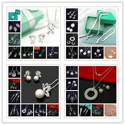 FREE P&P XMAS GIFT SOLID STERLING SILVER NECKLACE EARRING BRACELET JEWELRY