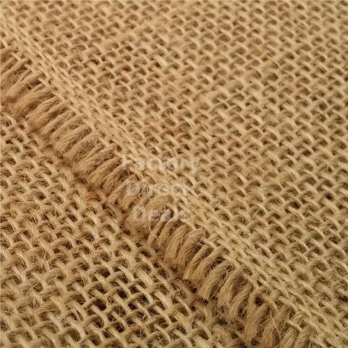 "Luxury 100/% Natural 12oz Jute Hessian Burlap Fabric Wedding Craft Upholstery 40/"""