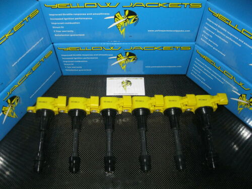 YELLOW JACKETS COIL PACKS SKYLINE V35 MAXIMA STAGEA M35 350Z Z33 CEFIRO A33 G35