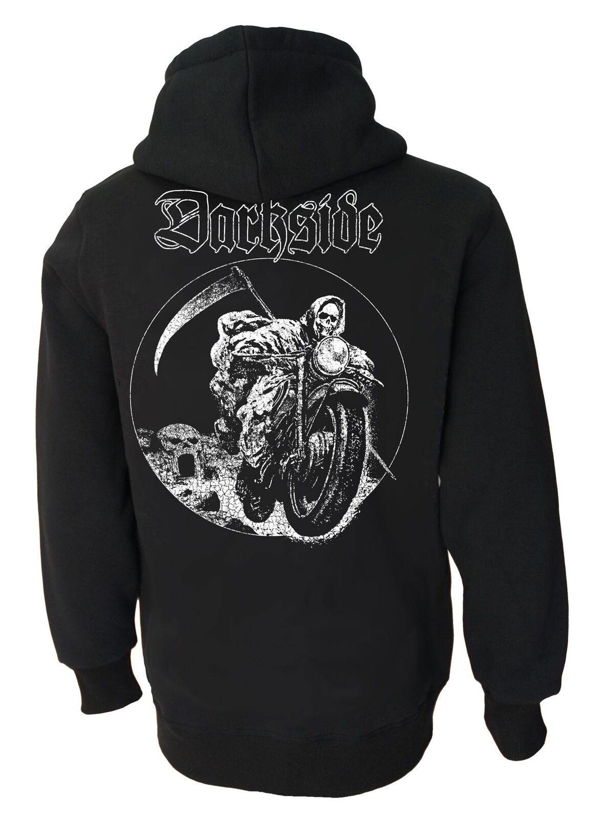 Grim Rider Genuine Darkside Biker Fleece Zip Hood
