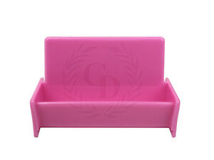 Image Is Loading Hot Pink Acrylic Business Card Holder Display Stand
